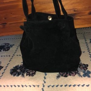 Adorable Black Suede shoulder bag